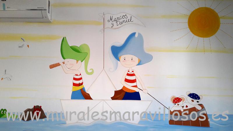 murales de piratas