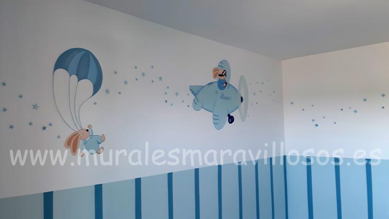 murales infantiles de conejitos