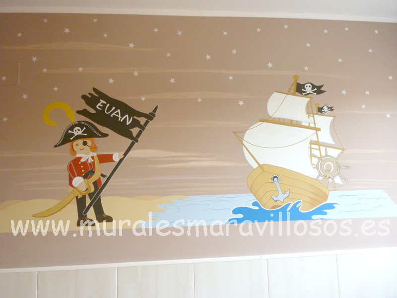 piratas playmobil murales