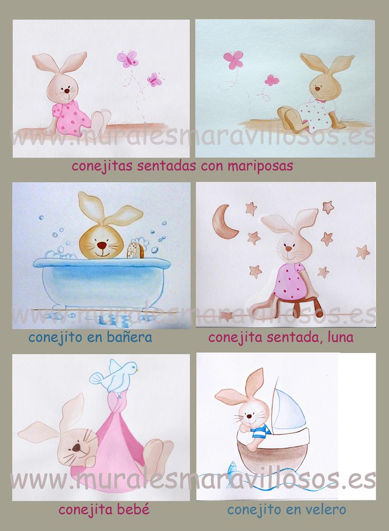 bocetos conejitos