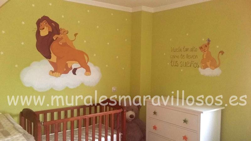 cuartos infantiles el rey leon murales