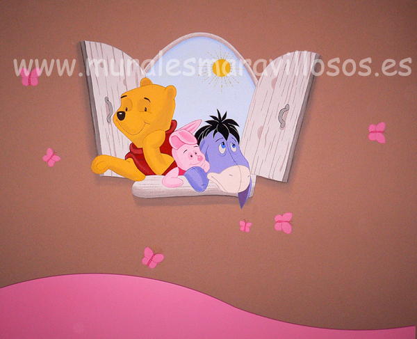 wiinie the pooh ventana mural