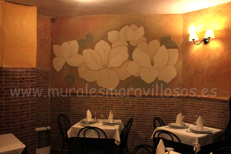 murales decoracion restaurantes paredes