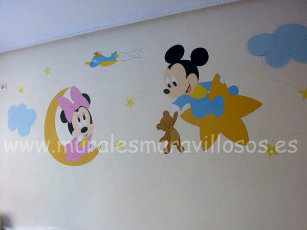murales pintados minnie mickey