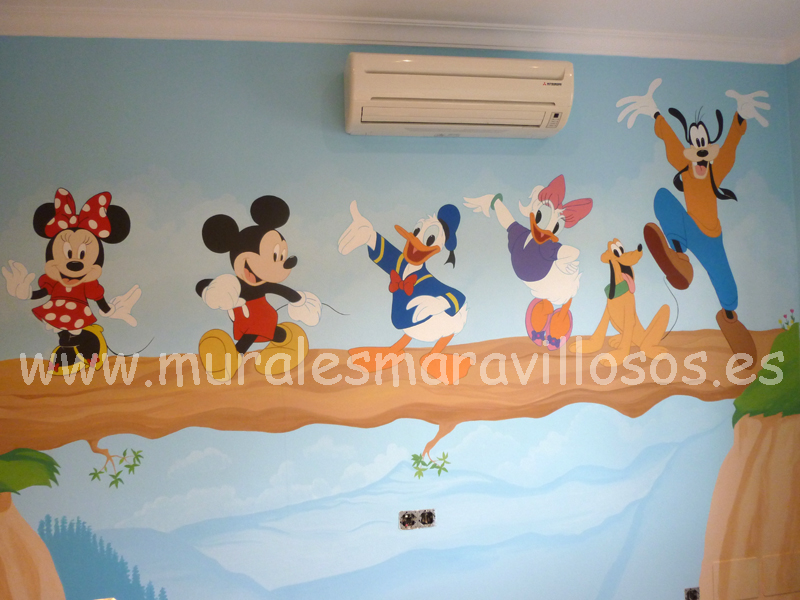 murales infantiles mickey mousse