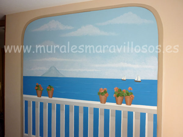 murales paisajes dormitorios paredes
