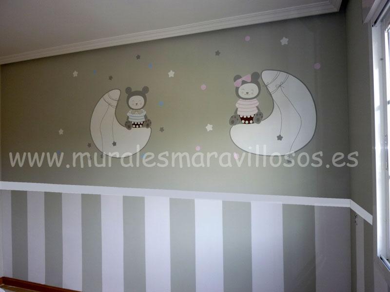 murales ositos textil
