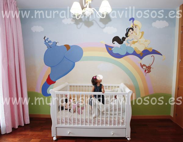 murales de aladino habitaciones y cuartos infantiles