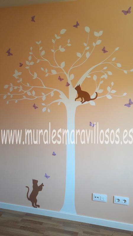 murales de arboles pintados en habitaciones y cuartos