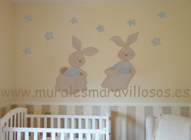 conejos murales