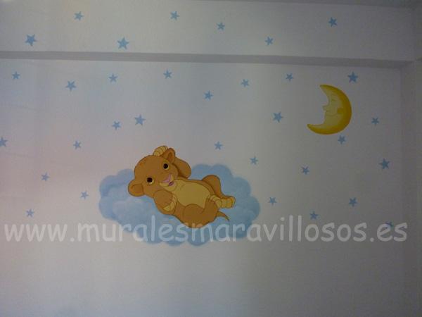 murales bebes rey leon