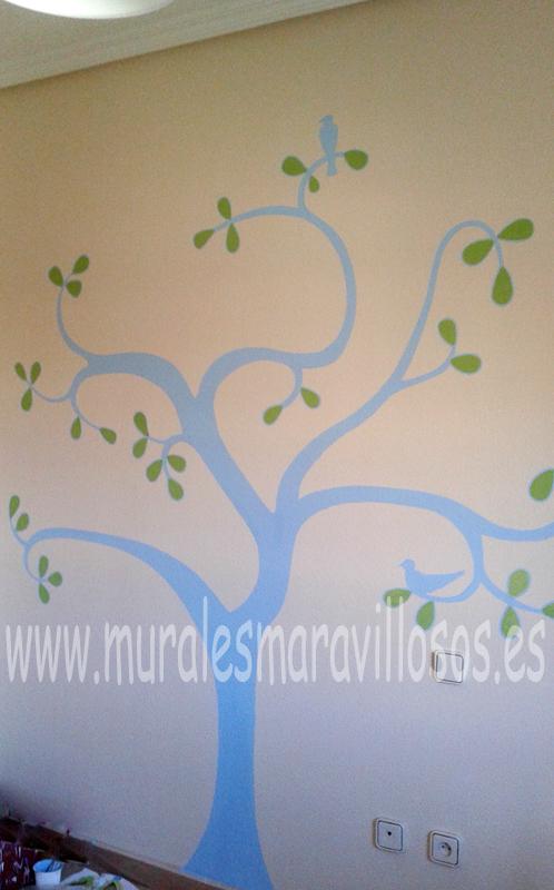 murales de arboles en cuartos infantiles