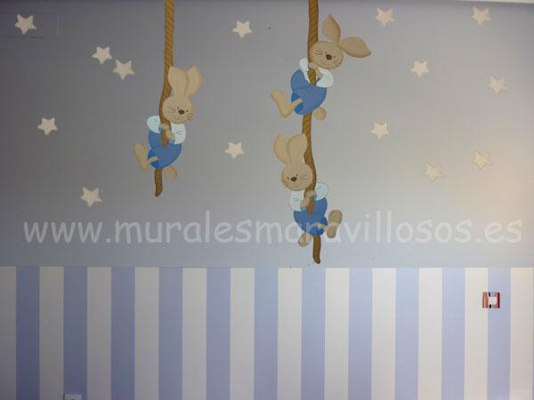 pintura infantil tres conejitos