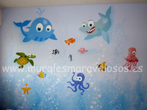 murales marinos habitaciones niños