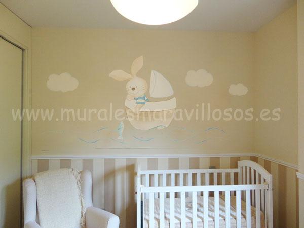 mural conejito en velero