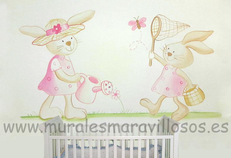 conejitos dormitorios infantiles niñas