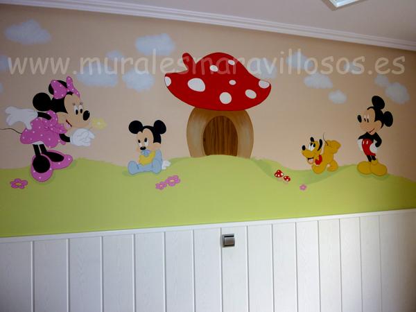 murales mickey minnie pluto seta