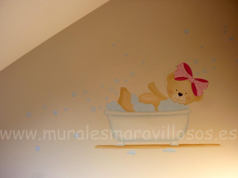 murales de ositos bañera