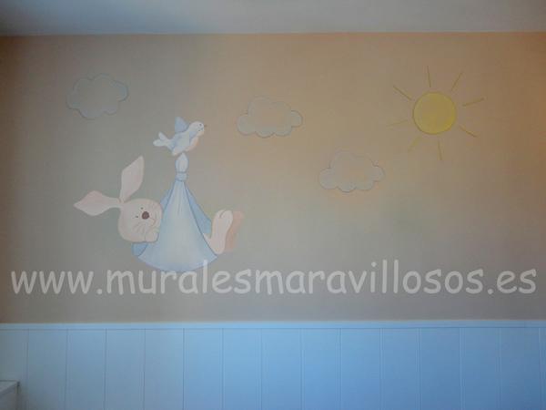 dormitorios murales bebes