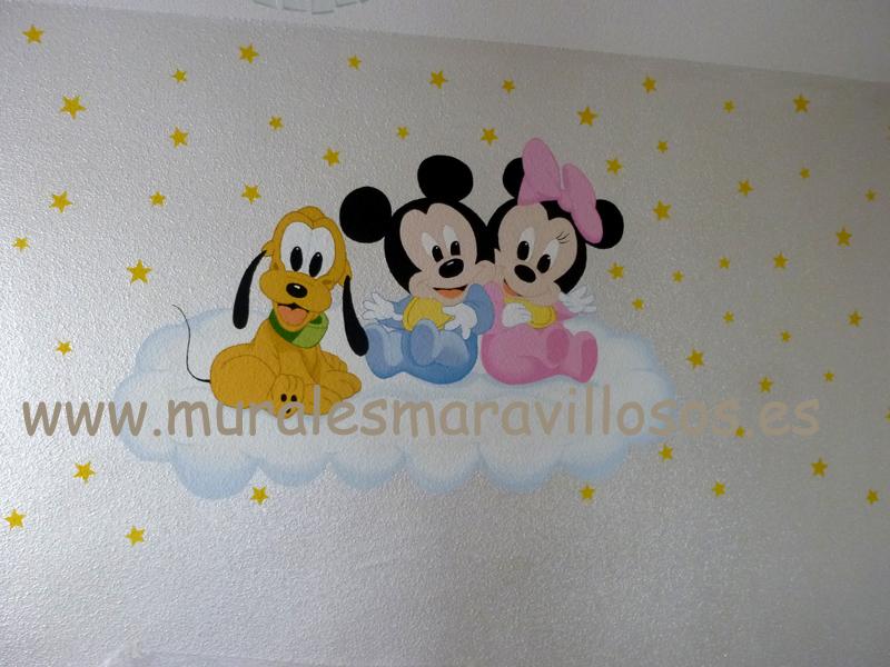 habitaciones para bebes mickey minnie pluto