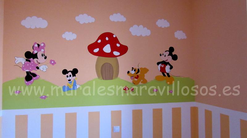 habitaciones infantiles mickey minnie pluto bebes