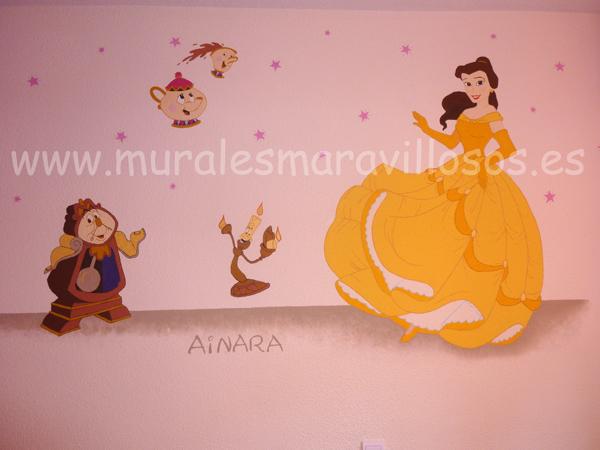 murales de princesas disney