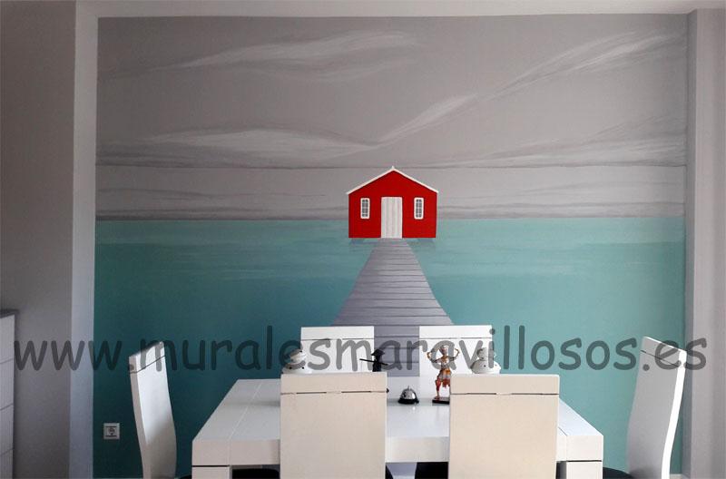 murales originales pintados paredes de salones