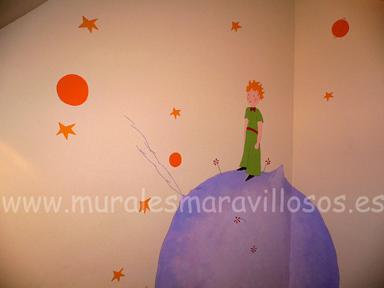 mural en esquina cuarto infantil