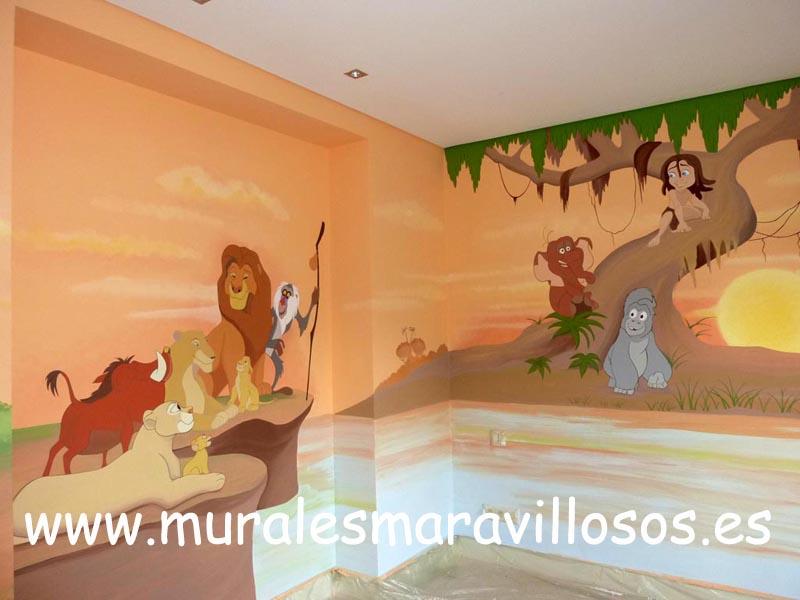 mural infantil el rey leon