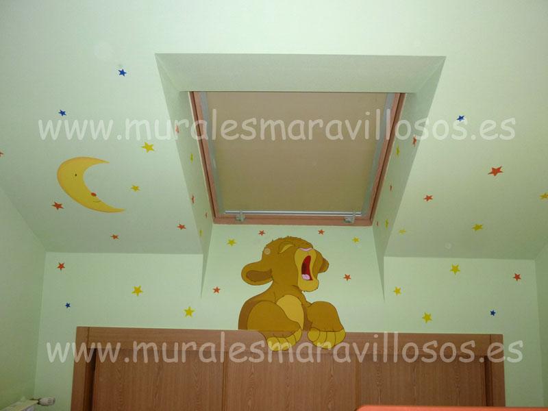 habitacion infantil abuardillada murales