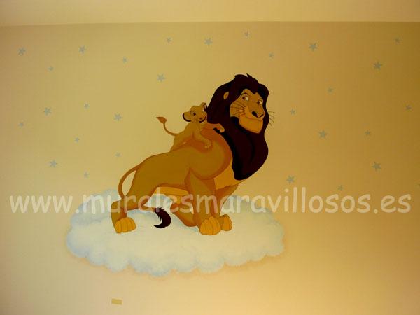 pintura habitaciones rey leon