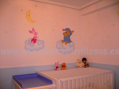 murales cuartos infantiles winnie
