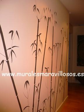 murales pintados paredes pasillos