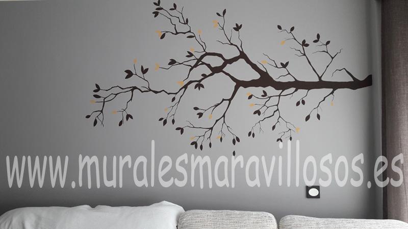 mural ramas pintado paredes salones