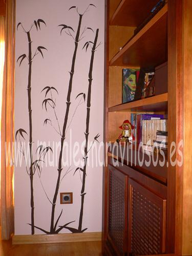 mural bambus salones