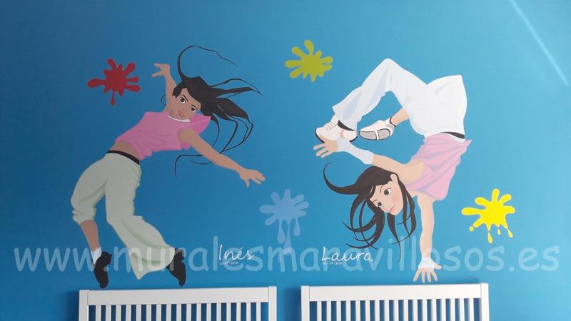 murales baile juvenil habitaciones
