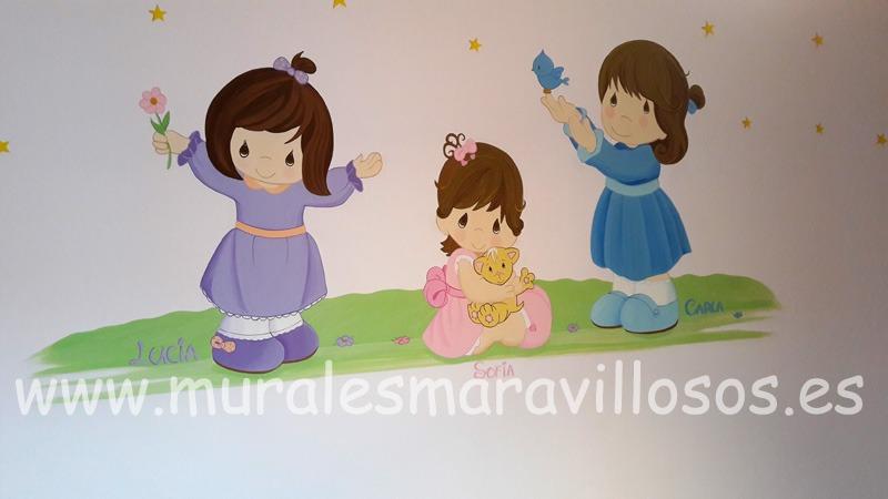 murales pintados en habitaciones de niñas