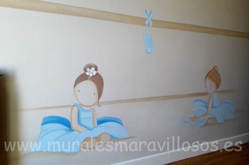 habitaciones murales infantiles bailarinas
