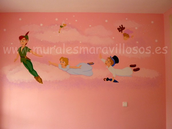 murales infantiles peter pan