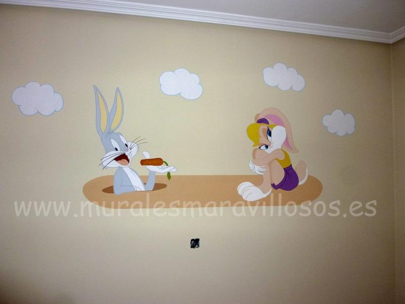 bugs bunny lola murales infantiles