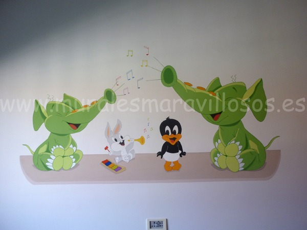 looney tunes murales infantiles