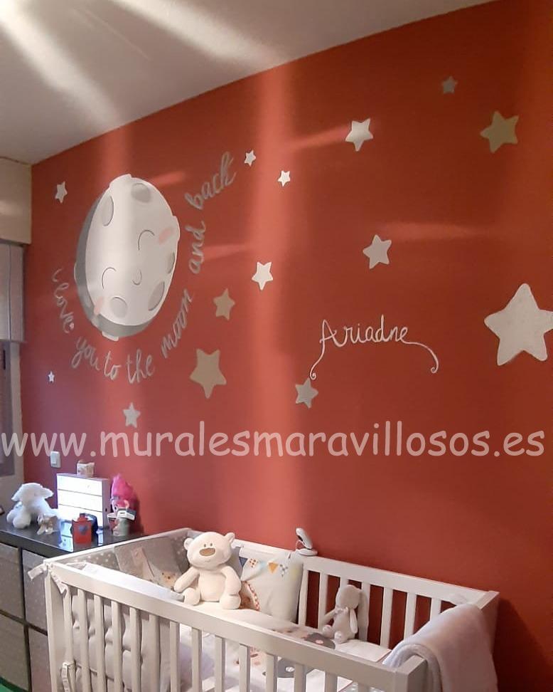 estrellas y nubes pintura habitacion