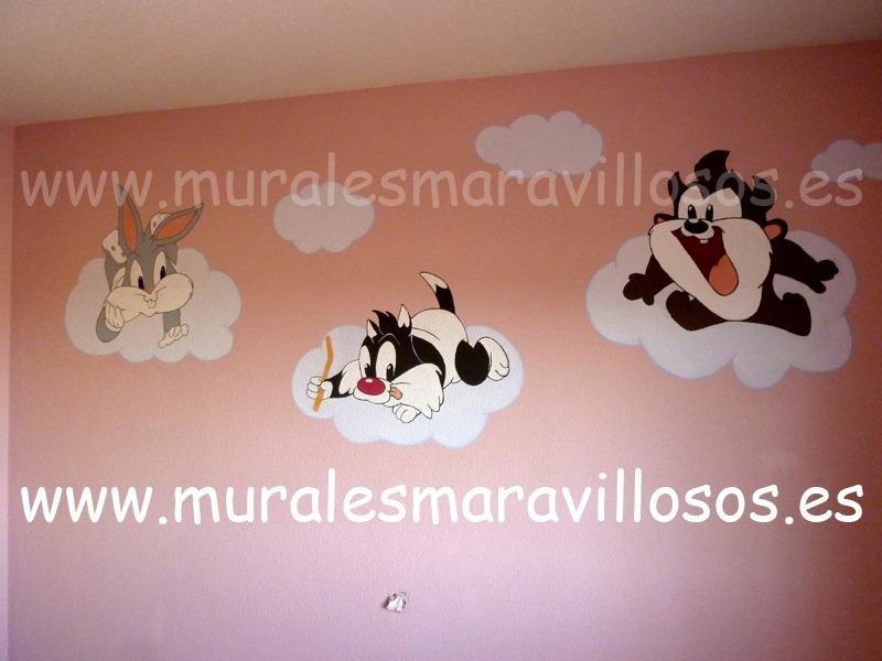 murales looney tunes bebes