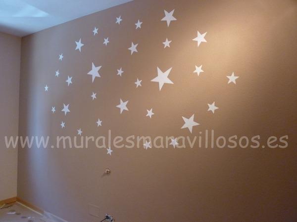 habitaciones con estrellas y nubes