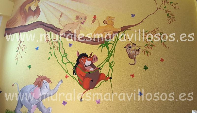murales rey leon pumba timon mufasa