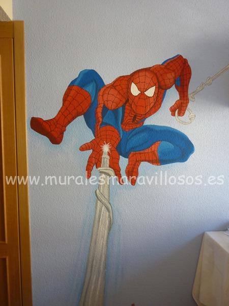 murales de superheroes spiderman