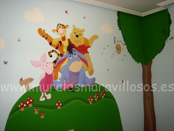 murales con todos los personajes de winnie the pooh