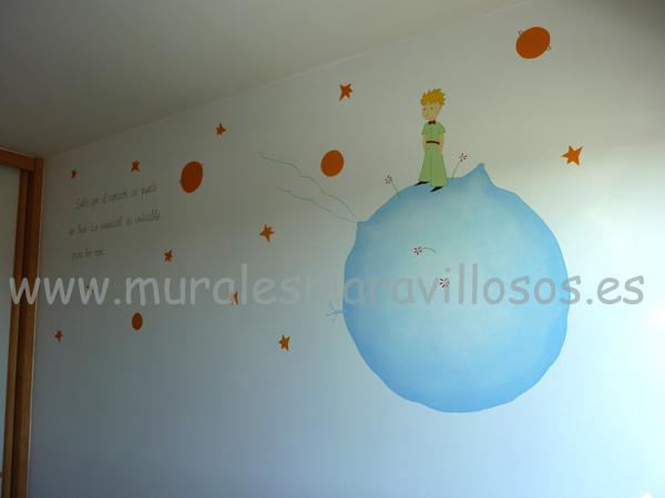 el principito murales pintados