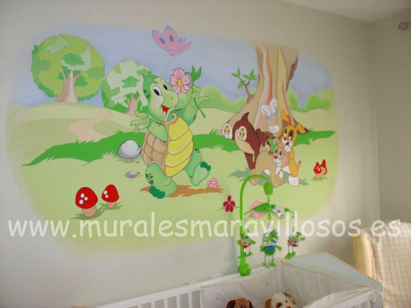 murales infantiles con animales