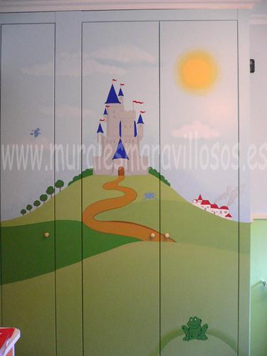 armarios infantiles murales pintados